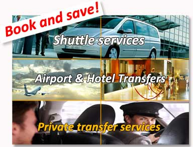Shared transfers to the hotel (shuttle bus) and private transfers from / to Alicante airport