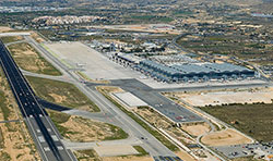 Alicante airport aerial view