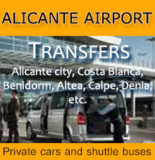 Private transfers and shuttle buses from to Alicante airport